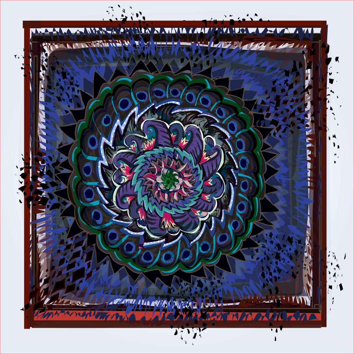 mandala-like pattern
